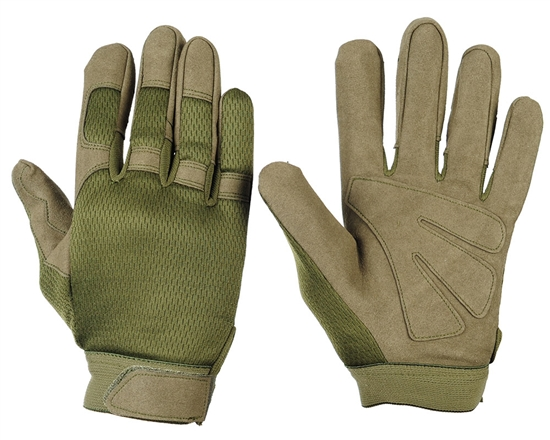Warrior Airsoft Tournament Gloves - Olive